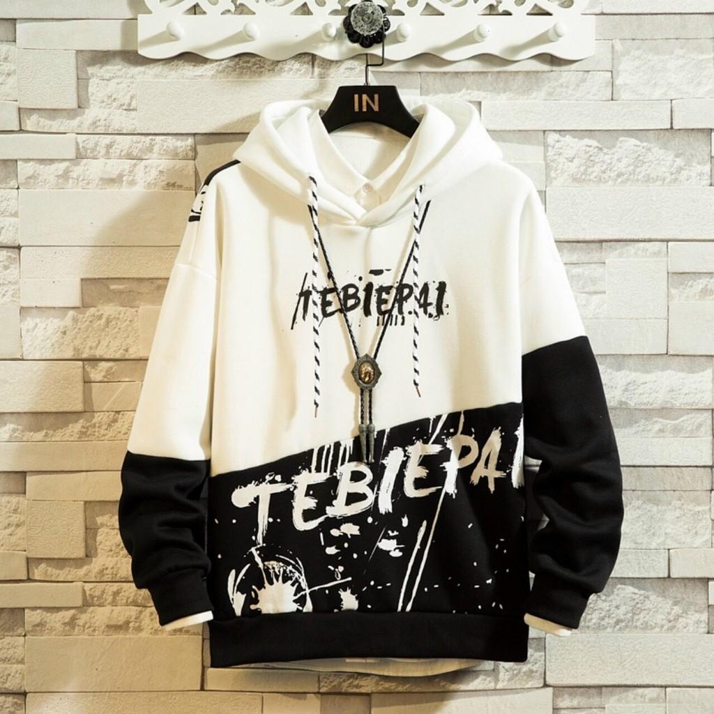 Áo khoác, áo hoodie unisex nam nữ nỉ ngoại chữ phối 2 màu cực đỉnh năng động thời trang học đường