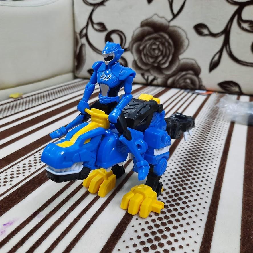 Đồ Chơi Mô Hình Miniforce Khủng Long Tyranno sấm sét & siêu nhân Volt tốc độ biệt đội siêu nhân nhí