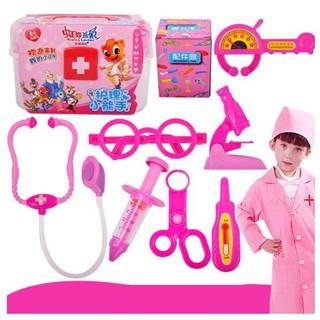 Bộ đồ chơi bác sĩ màu hồng cho bé