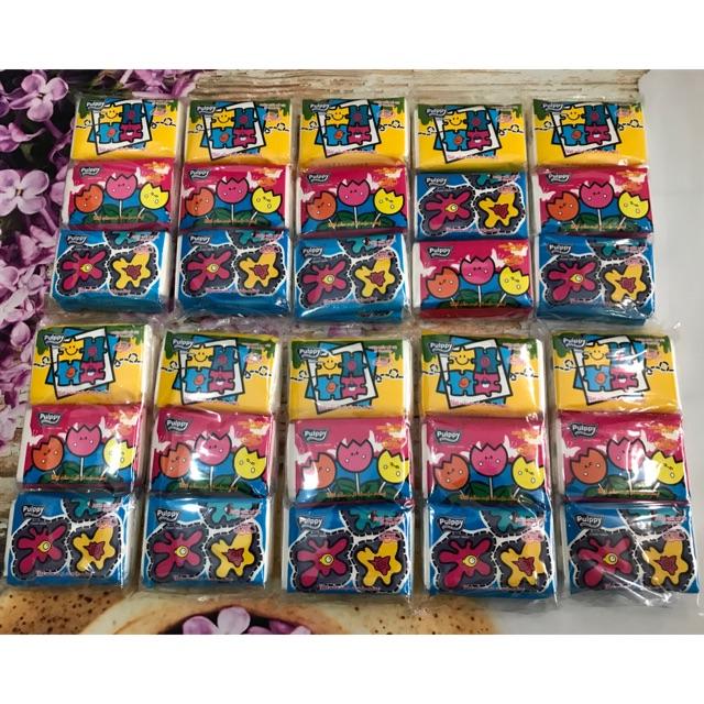 Combo 10 gói khăn giấy pupply bỏ túi hương trái cây