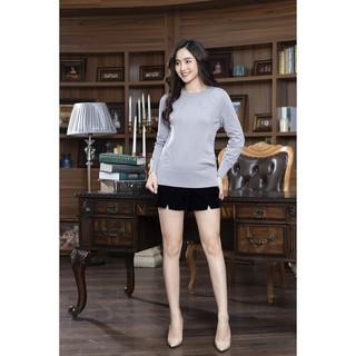 Áo len dài đục lỗ, dáng xuông MMOutfit LAD003 thumbnail