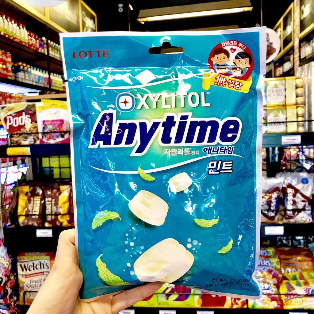 Kẹo Lotte Anytime Bạc Hà Gói 92G