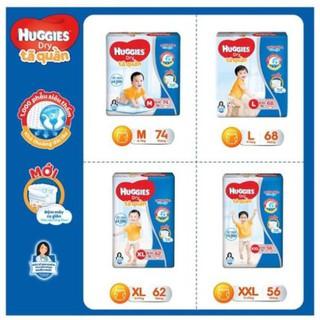 Tã quần Huggies mẫu mới đệm mây 4 chiều M74 L68 XL62 XXL56 thumbnail