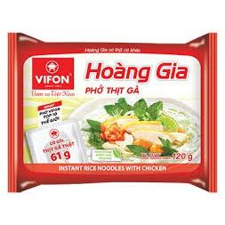 Thùng 12 Gói Hoàng Gia Phở Thịt Gà / Thịt Bò 120g Vifon