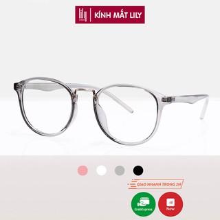 Gọng kính tròn nam nữ chất liệu nhựa dẻo phụ kiện thời trang Lilyeyewear 209 nhiều màu