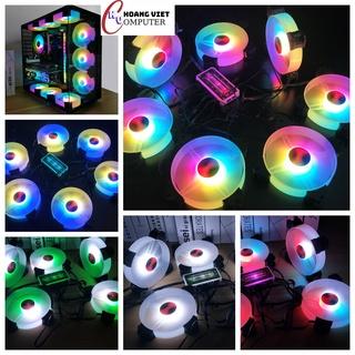 Quạt tản nhiệt pc, fan coolmoon led RGB, vòng tâm siêu sáng - Siêu đẹp thumbnail
