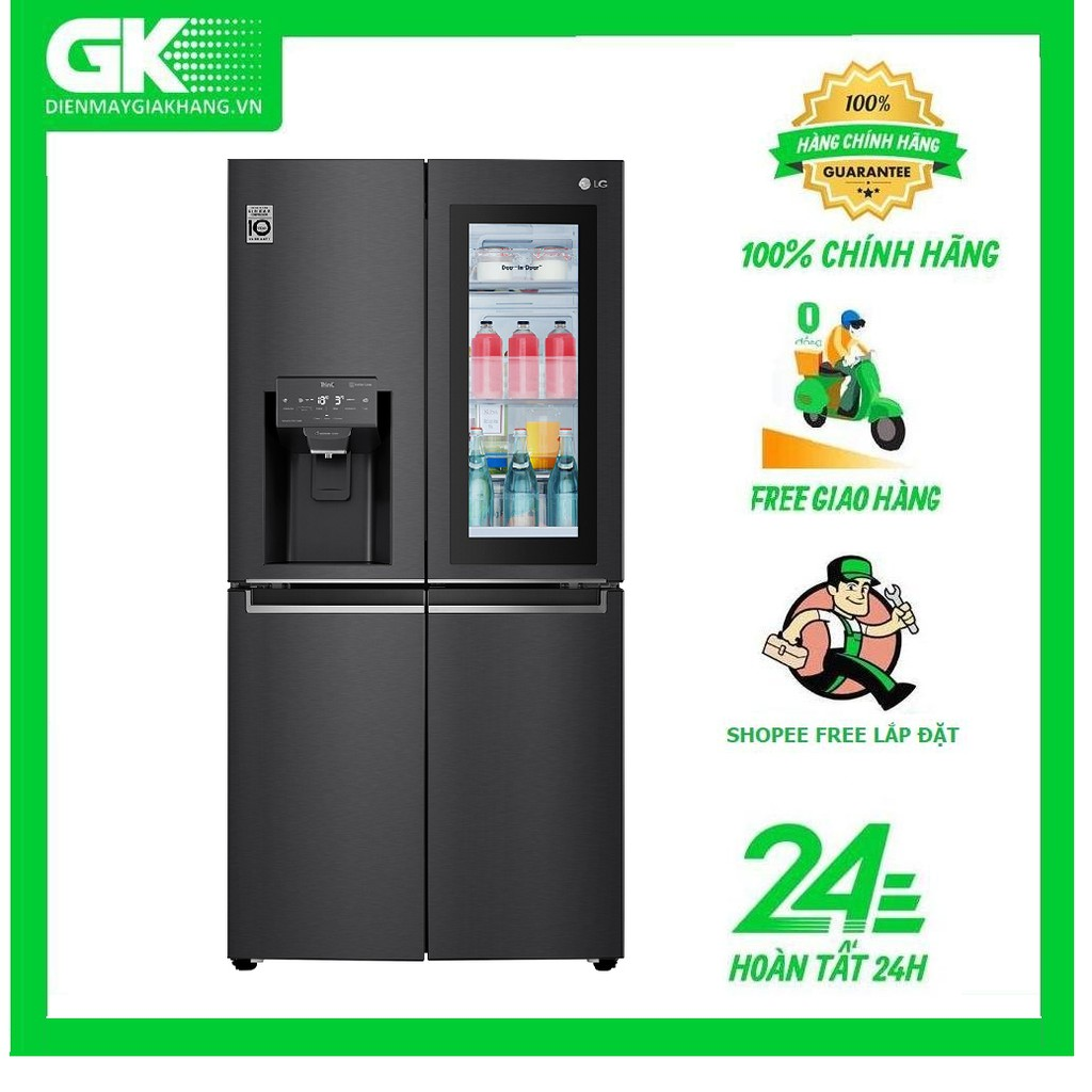 GR-X22MB  - MIỄN PHÍ CÔNG LẮP ĐẶT- Tủ lạnh LG Inverter 496 lít GR-X22MB