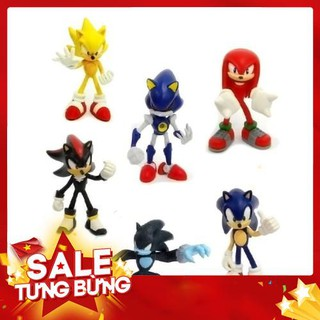 Bộ 6 Tượng Mô Hình Nhân Vật Anime Sonic The Hedgehog Phong Cách Chibi – Hàng nhập khẩu