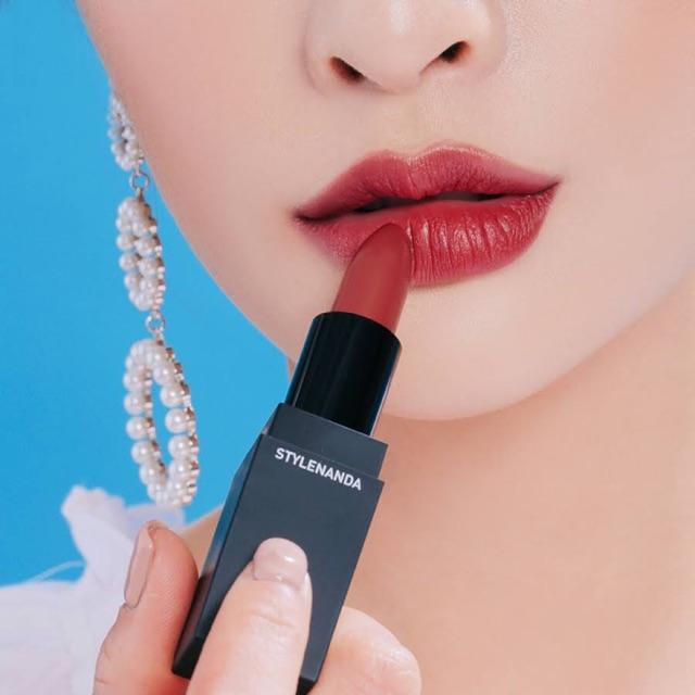 Son lì 3CE matte lip color chính hãng vỏ đen màu 118 | Shopee Việt Nam