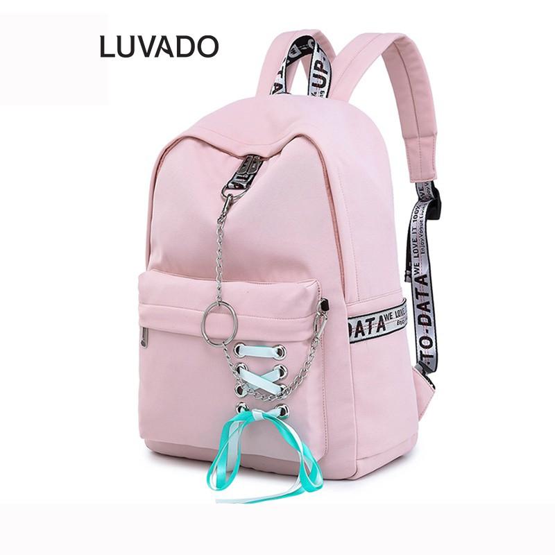 Balo nữ đẹp đi học thời trang CLASSIC DIAMOND Nhỏ cá tính LUVADO BL105