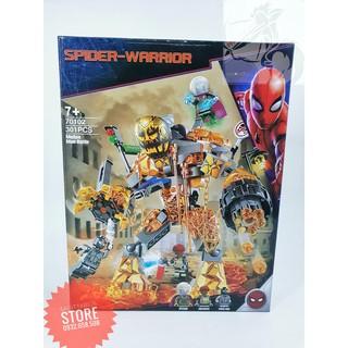 Lego Super Heroes Spiderman Chống Quái Vật Nham Thạch ( 301 Mảnh )