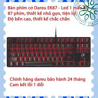 [ Hàng Hot ] Bàn phím cơ Dareu EK87 - Mã cũ DK87 - Đèn led màu đỏ - Thay được keycap - Bảo hành 24 tháng - Lỗi 1 đổi 1 thumbnail
