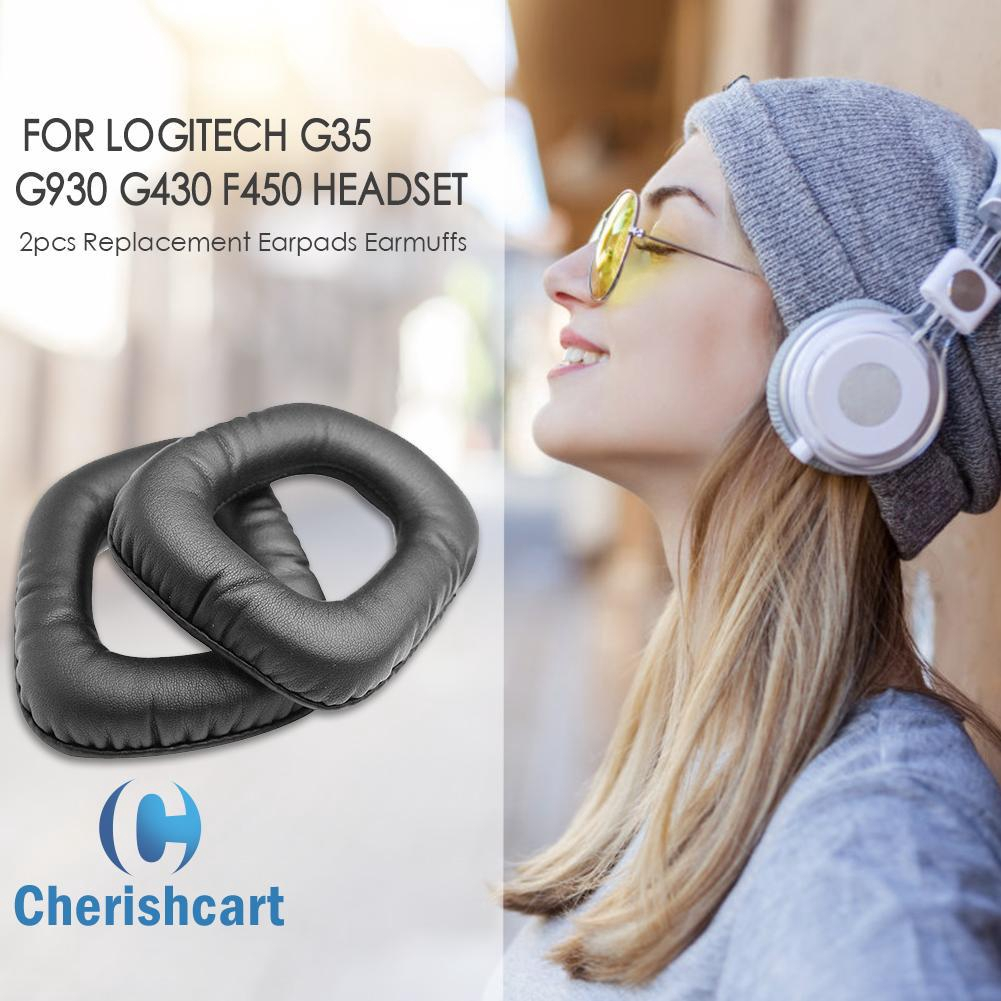 [Ready stock]2pcs Replacement Earpads Earmuffs for Logitech G35 G930 G430 F450 Headset
