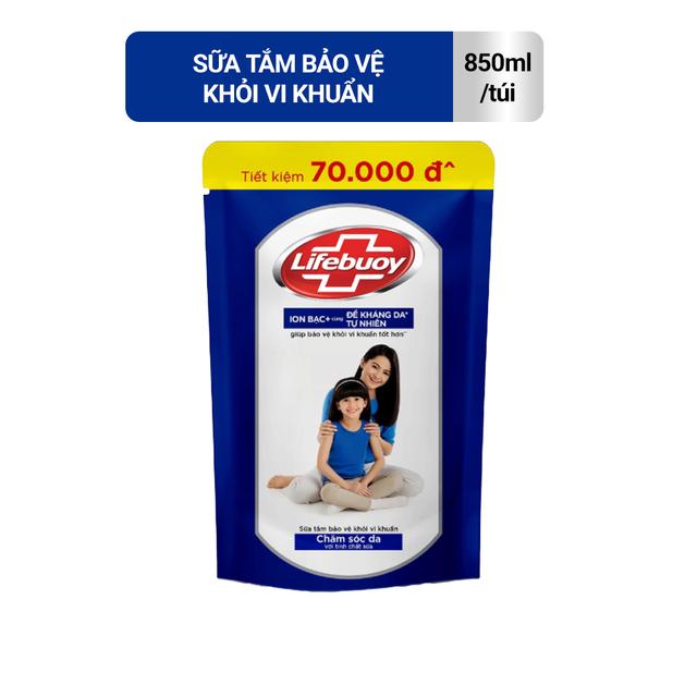 [Mã COSMALL25 -10% ĐH 250K]Sữa tắm Lifebuoy Bảo vệ khỏi vi khuẩn 850gr (Túi)