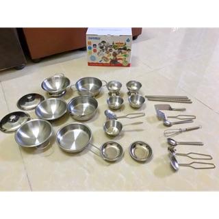 Bộ đồ chơi nấu ăn inox 25 chi tiết
