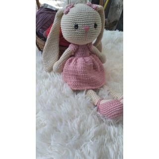 [Nhập mã HANCHH10K giảm 10k trên đơn 280k ]Hàng có sẵn) Thỏ len tai dài 36cm chưa tính tai