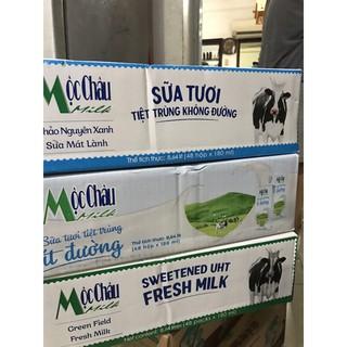 Sữa tươi Mộc châu 180ml Có đường, ít đường, không đường date 6/2021