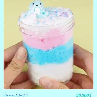 Cloud slime kikiwaka cake ( slimem mây )
