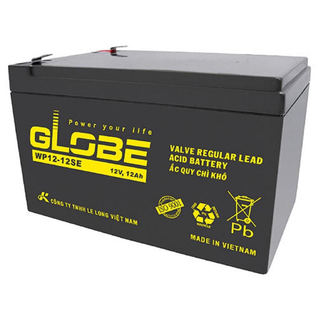 Bình Ắc Quy Khô GLOBE WP12-12SE (12V-12Ah) - Dành cho Bộ lưu điện UPS và Xe Đạp Điện.