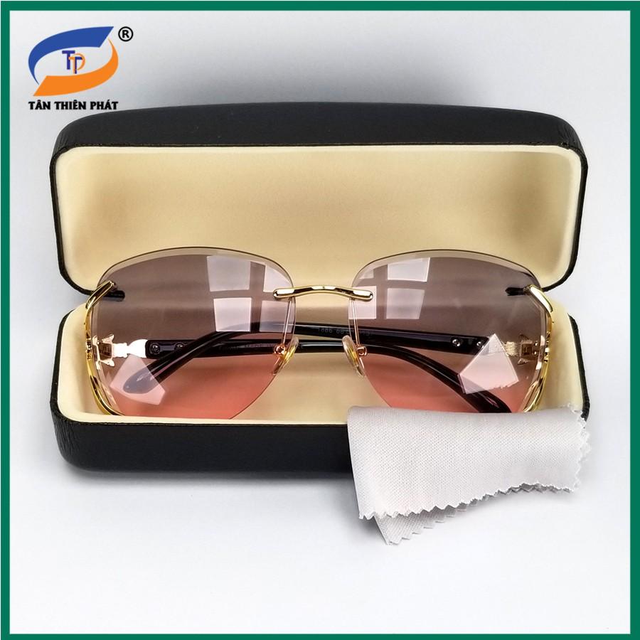 Mắt kính mát nữ đi ngày và đêm, không gọng viền – Kính mát chống nắng, chống tia UV tia UV, tặng kèm hộp đựng kính