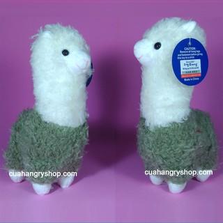 Bé cừu gấu bông lông xanh lá 28cm
