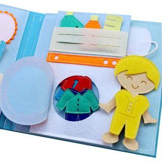 [Sách Xuất Khẩu] Sách vải Một Ngày Của Bé Trai Dành cho bé trai từ 1 10 tuổi