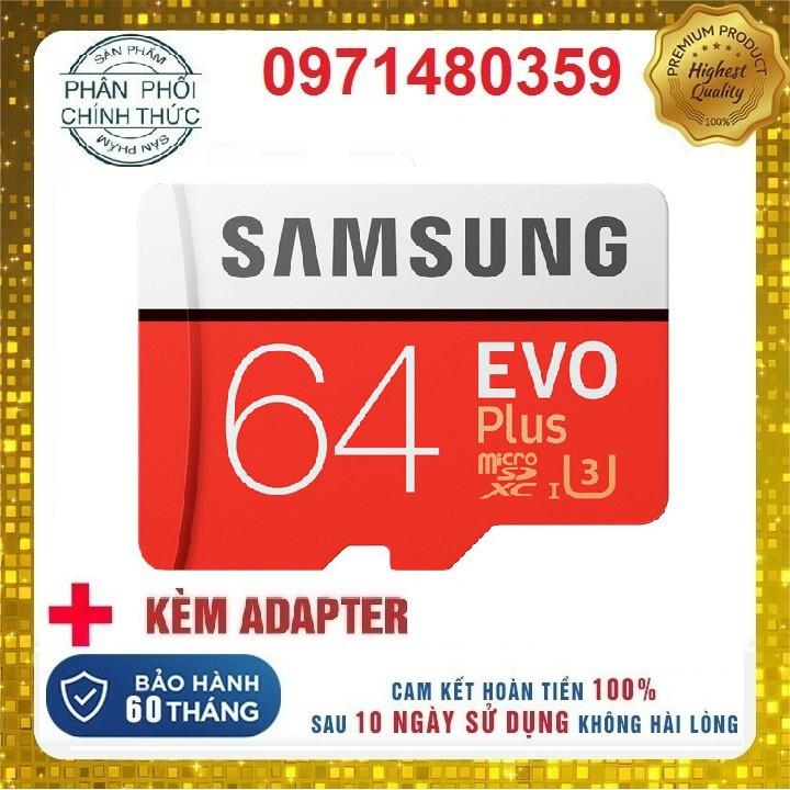 Thẻ nhớ Samsung 64GB 32GB 16GB tốc độ cao up to 95MB/s hỗ trợ quay video full HD, video 2K, video 4K