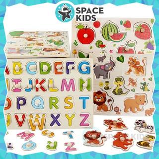Đồ chơi trí tuệ ghép hình bằng gỗ có núm cho trẻ em phát triển tư duy và kỹ năng cơ bản – Space Kids