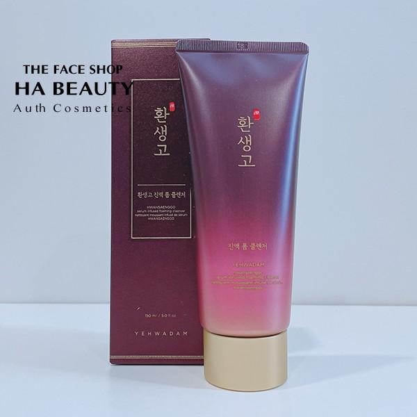 Sữa rửa mặt chống lão hóa The Face Shop Yehwadam Hwansaenggo Serum Infused Foaming Cleanser 150ml sạch sâu, cấp ẩm