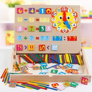 bộ đồ chơi toán học bằng gỗ cho bé