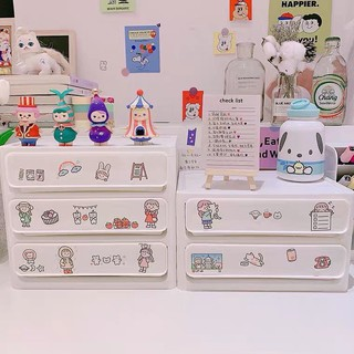 Tủ đựng đồ 2 ngăn kèm stickers