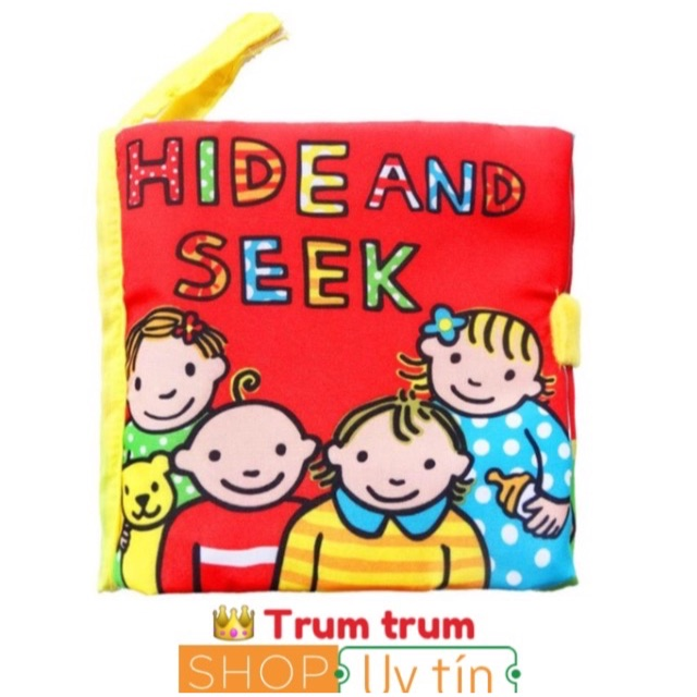 """FREESHIP 99K TOÀN QUỐC_sách vải 3D  hide and seek"""""""""""