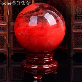 quả cầu pha lê đỏ trang trí