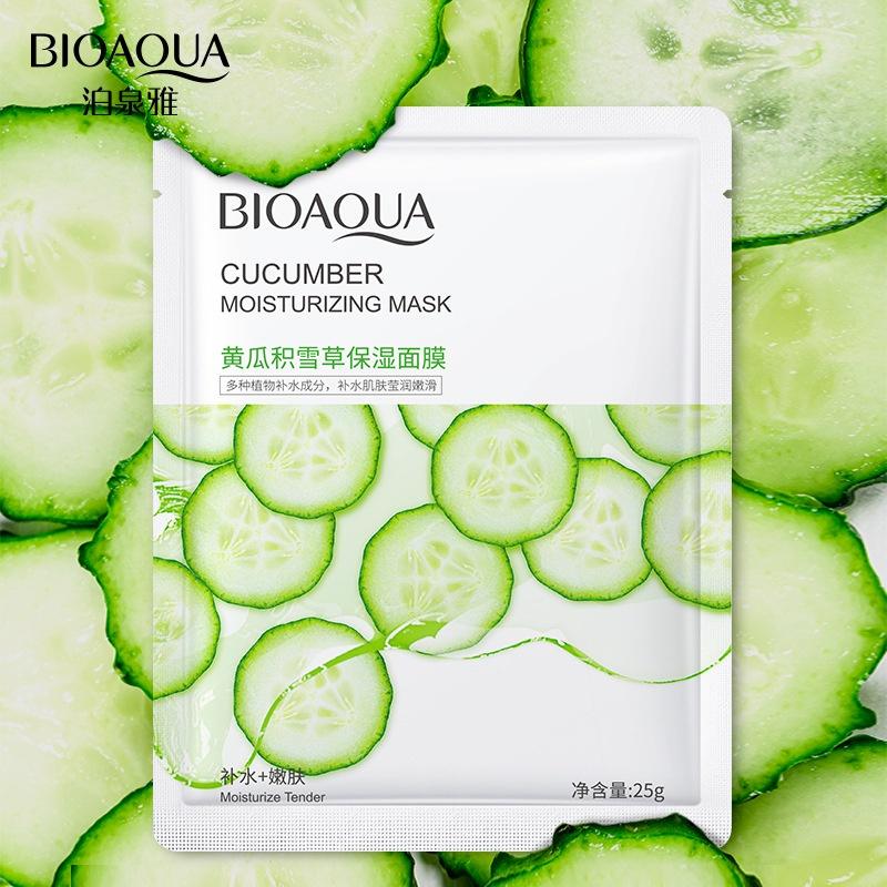 BIOAOUA-Cucumber Centella Asiatica Mặt nạ dưỡng ẩm và làm trắng da-Dưỡng ẩm-Dưỡng ẩm-Chăm sóc-Cải thiện tình trạng khô Mặt nạ