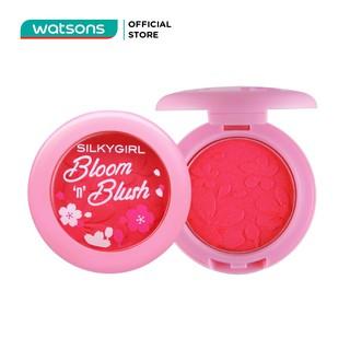 Phấn Má Hồng SILKYGIRL Bloom N Blush 3g . 02 Delicate Peach Hồng Cam