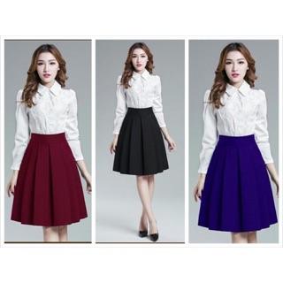 Chân váy xòe thời trang có 2 túi – V04116075