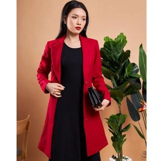 Áo măng tô đỏ thiết kế Elise thumbnail