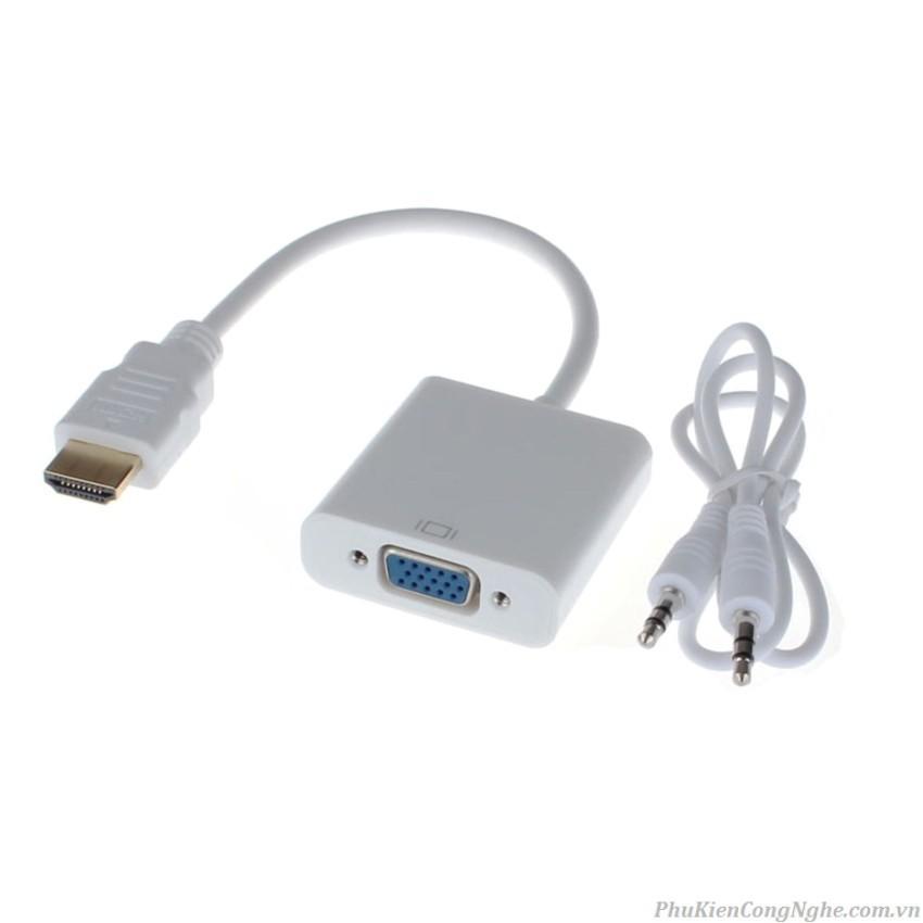 ( GIÁ RẺ NHẤT) Cáp HDMI ra VGA có audio Giá chỉ 67.000₫