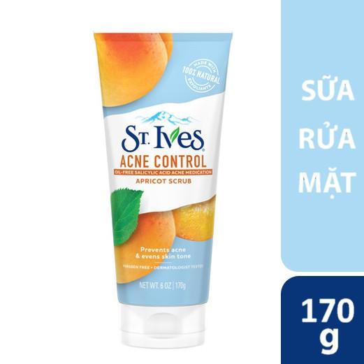 Hình ảnh Sữa rửa mặt Ngăn Ngừa Mụn St.Ives Chiết Xuất Trái Mơ 170G - bao bì mới-0
