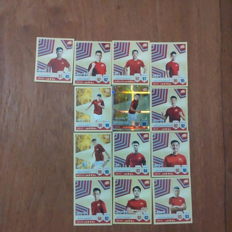 Thẻ bài poca các cầu thủ Việt Nam (Quang Hải ,Văn Hậu,Văn Đức,…)(tặng 100 xu /1thẻ bài)