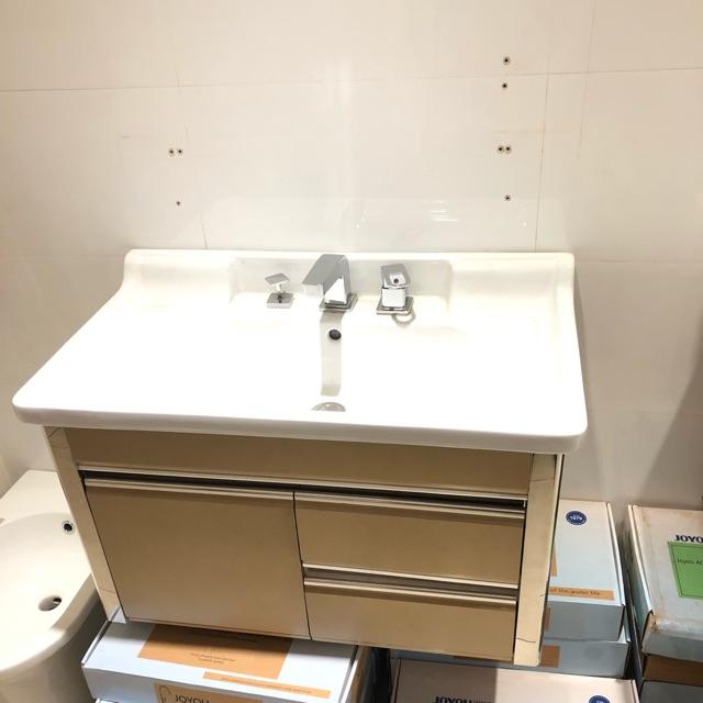 Bộ tủ lavabo nhựa PVC kích thước 80x48cm treo tường