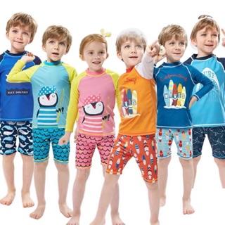 Bộ đồ bơi trẻ em bé trai bé gái quần đùi áo dài tay siêu kute