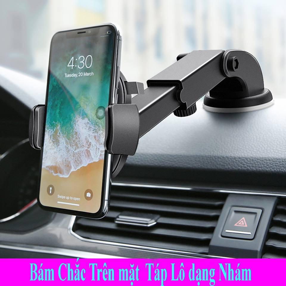 Giá đỡ điện thoại trên ô tô loại hít kính cổ dài rất thuận tiện