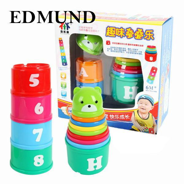 Non-Toxic Exploit IQ Toy Educational Baby Toddler Child Kid Stacking Delicate