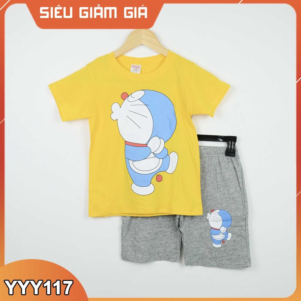 [ cotton 100% ] Bộ quần áo in hình thú Sorakids cho bé trai  2-10 tuổi Bộ quần áo trẻ em chất Size từ 9-40 kg C