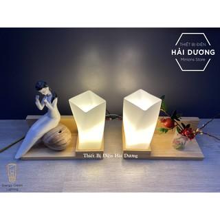 Đèn Tường Kệ Gỗ Chao Thủy Tinh Hiện Đại DT-3024 - Trang Trí Căn Phòng - Energy Green Lighting - Đã Bao Gồm Bóng LED - hình 3