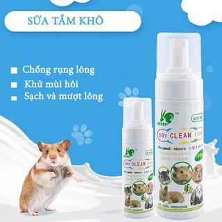 Sữa tắm khô cho hamster làm sạch giặt khô cho chuột lang,thỏ ,bọ ú KELLY -100ml thumbnail