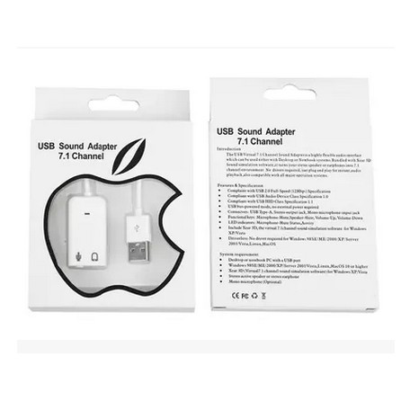 uxcell USB sound card