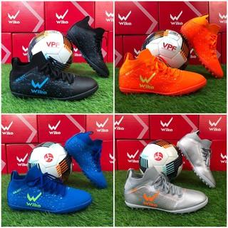 Giày đá bóng chính hãng Wika Galaxy cao cổ đế TF đá sân nhân tạo full size 4 màu sắc