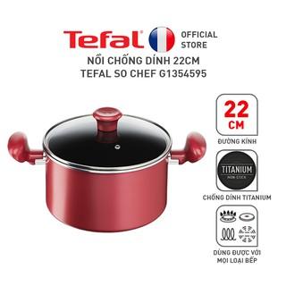 [Mã LIFEHL9 giảm 8% tối đa 100K đơn 250K] Nồi chống dính 22cm Tefal So Chef G1354595